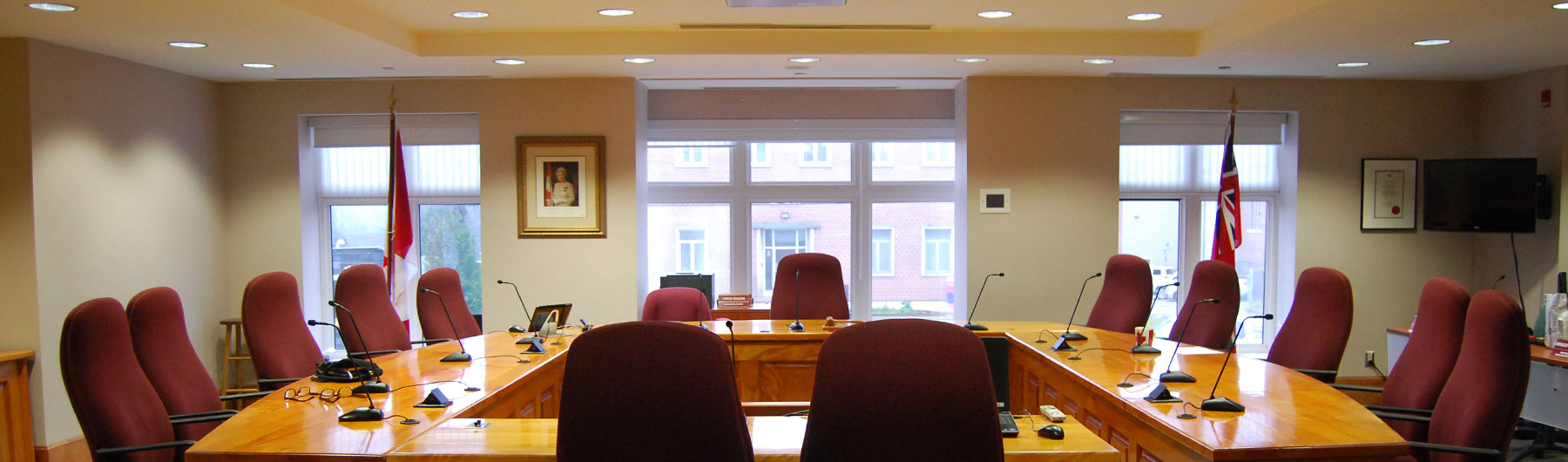 council chambers desk and chairs
